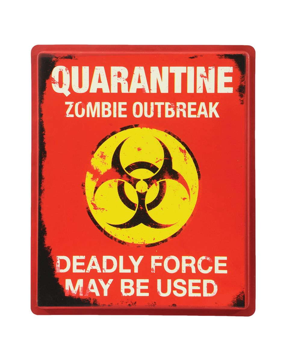 warn your guests of what lies ahead when you decorate your house with this quarantine sign - When To Decorate For Halloween