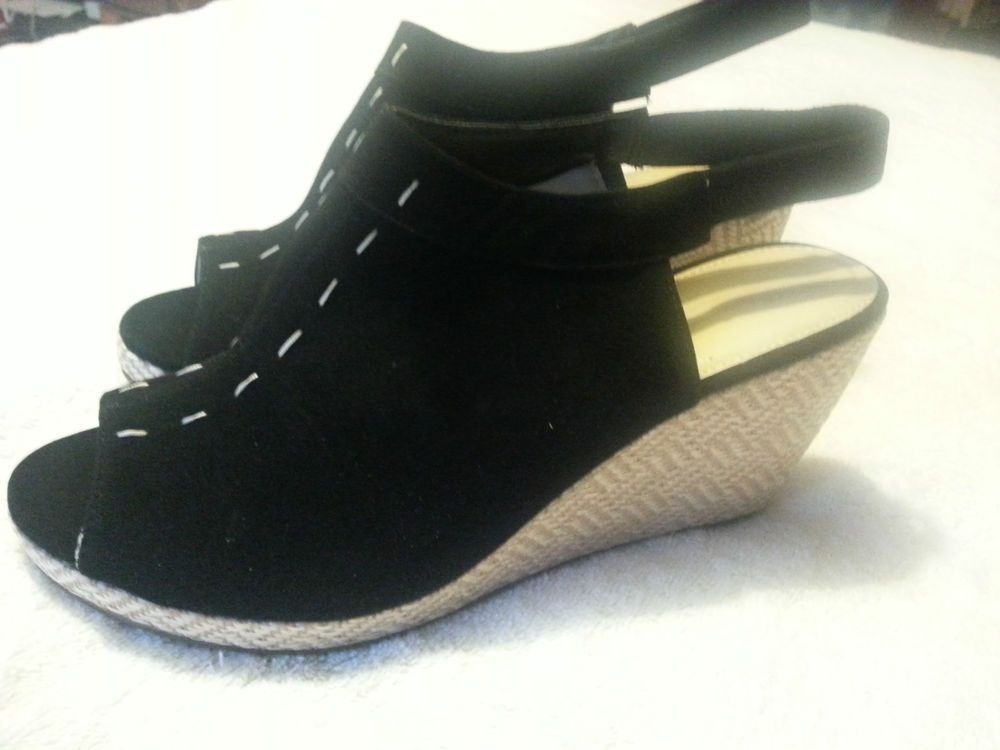 Check out Avon Black Peep Toe Wedge Heels size 10 #Avon #PlatformsWedges http://r.ebay.com/U197zf via @eBay