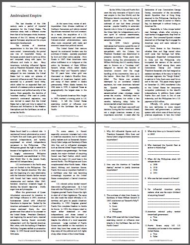 Ambivalent Empire - Free Printable American History Reading