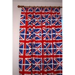 Union Jack Bedroom Curtains 66 Inch X 72 Inch Drop