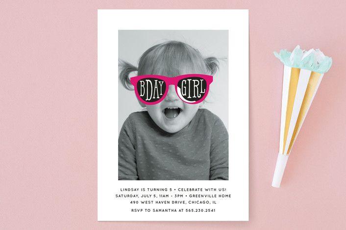 Birthday Girl Shades Childrenu0027s Birthday Party Invitations Kids - fresh birthday party invitation designs