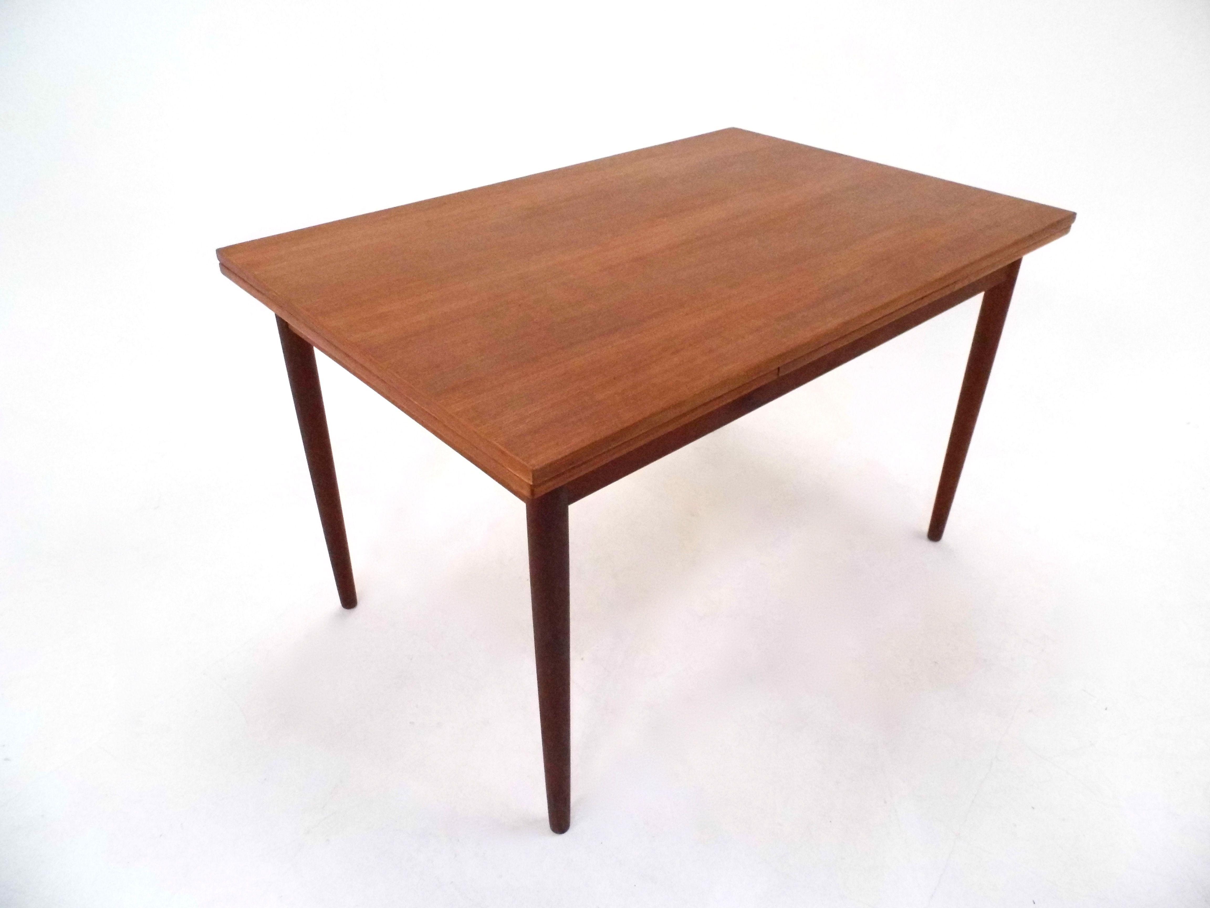Danish Teak Extending Dining Table Midcentury 1960s Extendable