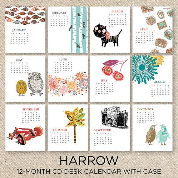 Calendar Ideas Y : Sale off harrow desk calendar with cd by