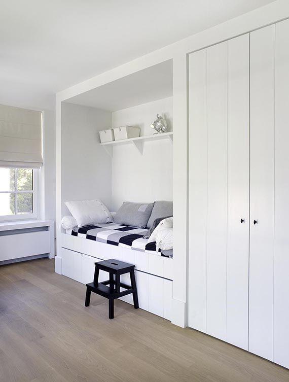Utterly cozy recessed sleeping nooks