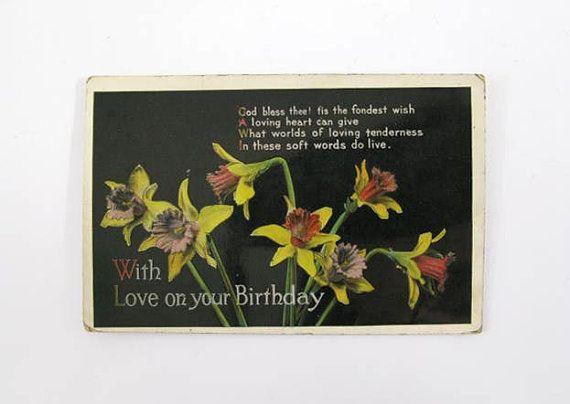 Postcard Antique Postcard Vintage Postcard Birthday Postcard