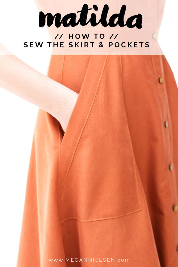 How to sew the skirt and skirt pockets on the Matilda dress pattern // Megan Nielsen Design Diary