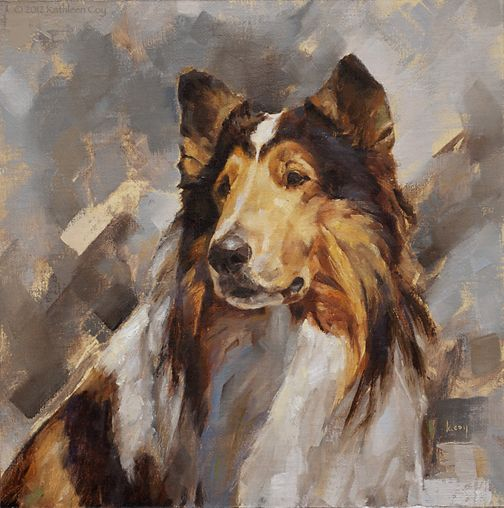 A Pair Of Collies Dog Paintings Dog Art Dog Portraits