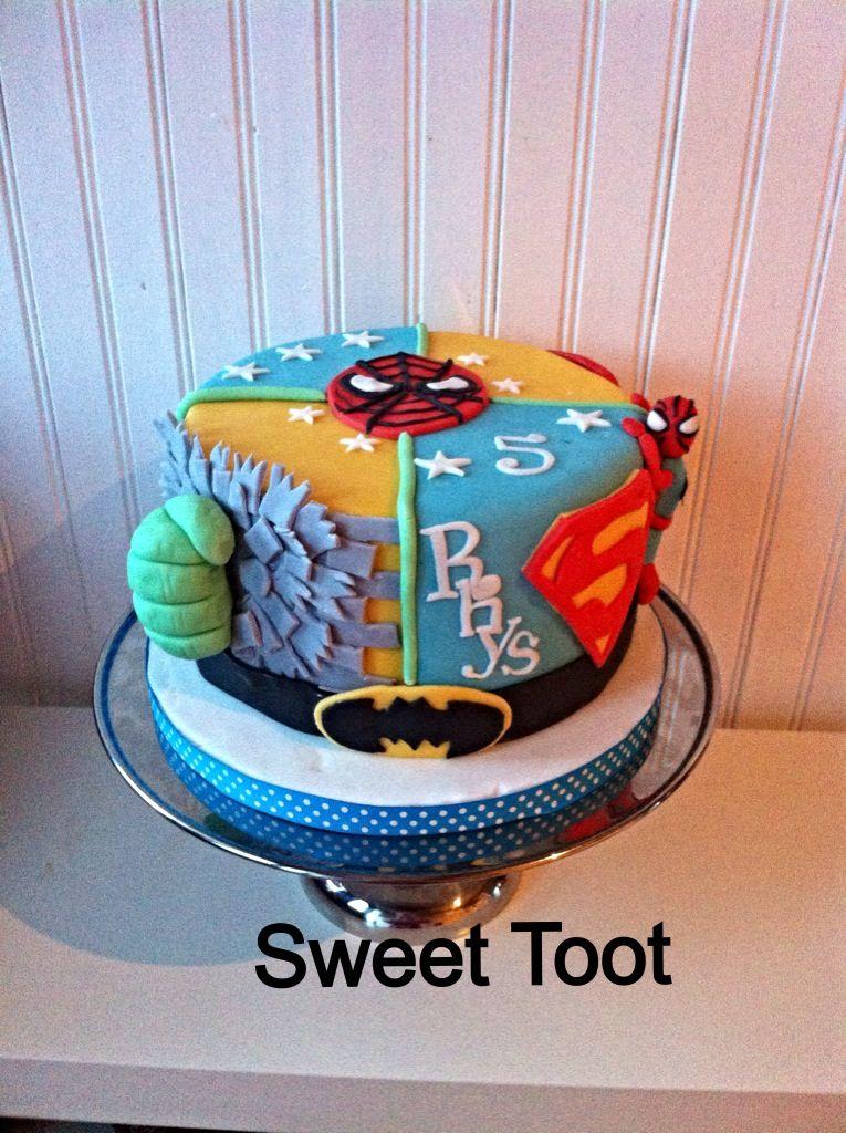 Super hero marvel birthday cake Levi BIG 6 Birthday Pinterest