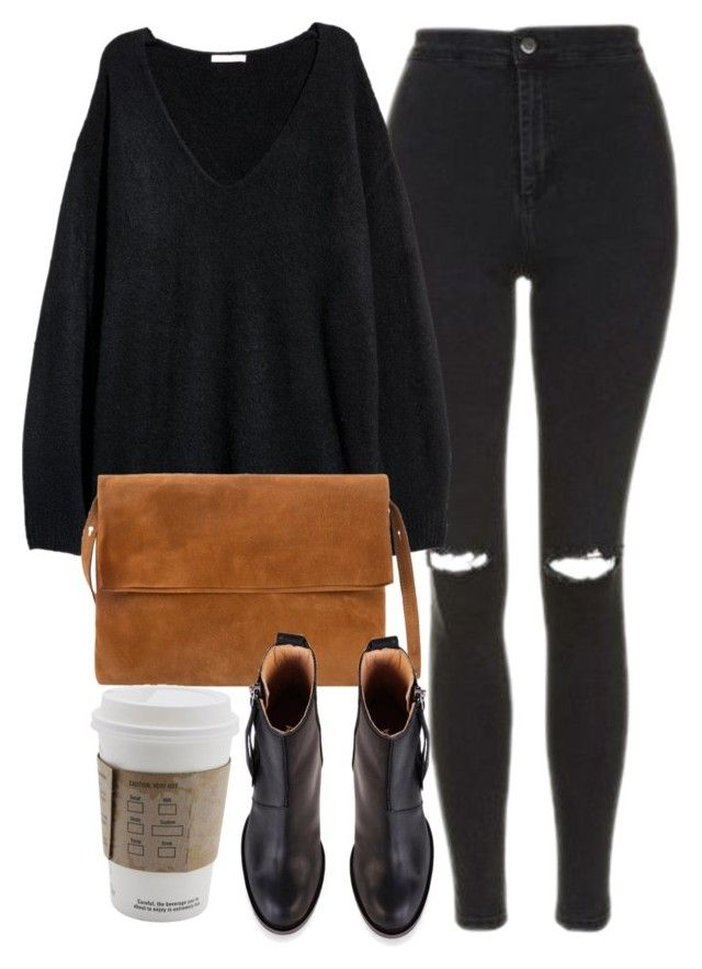 """""""Untitled #7144"""" by laurenmboot ❤ liked on Polyvore featuring Topshop, MANGO and Acne Studios"""