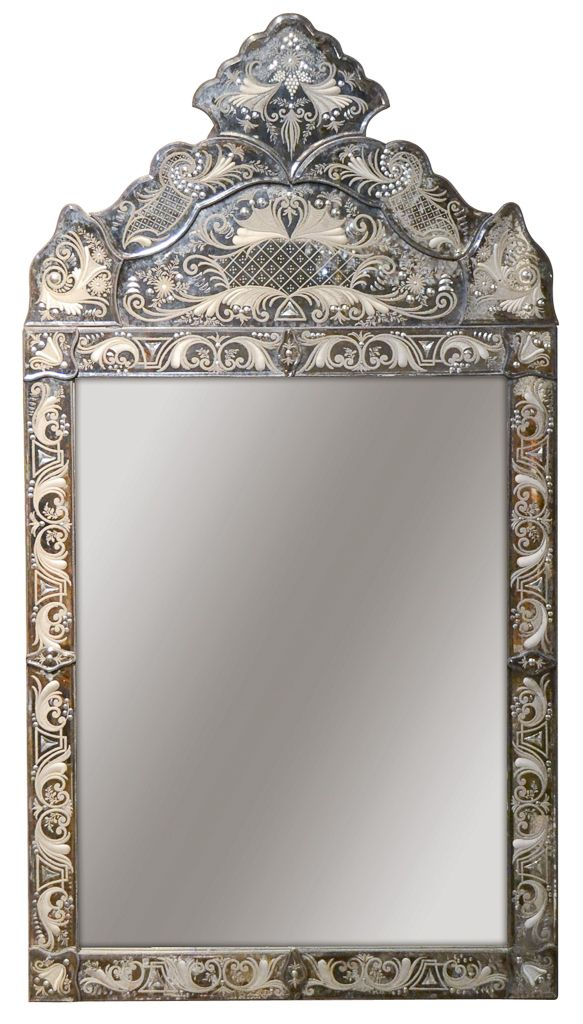 1940\'s Venetian Etched Glass Mirror | Antique Mirrors, frame ...