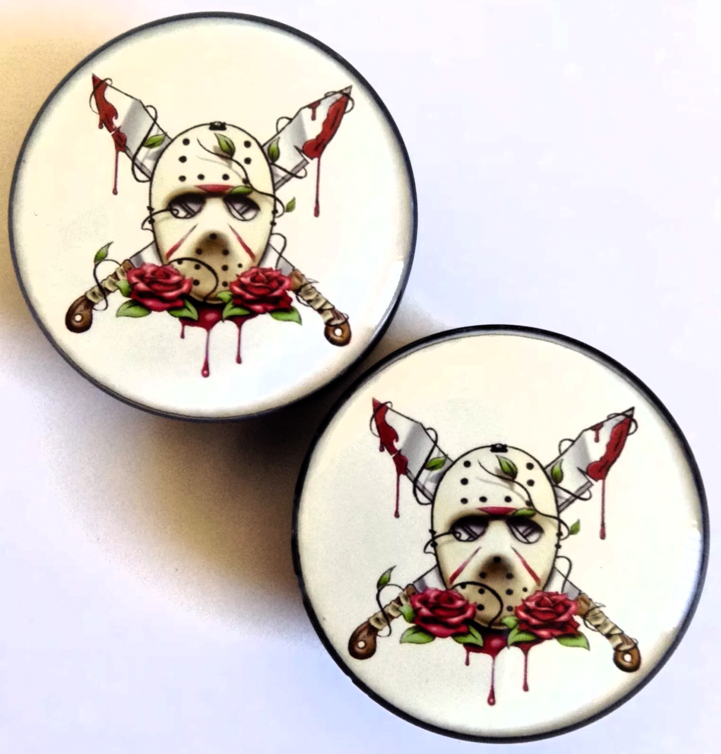 Jason Voorhees Friday The 13th Plugs Acrylic Plugs Jason Voorhees Plugs