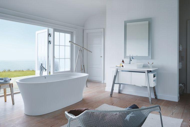 Bagni moderni piccoli arredamento minimal mobili di colore bianco