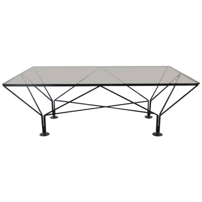 Paolo Piva Style Metal And Smoked Glass Coffee Table Mahogany Coffee Table Glass Top Coffee Table Cool Coffee Tables