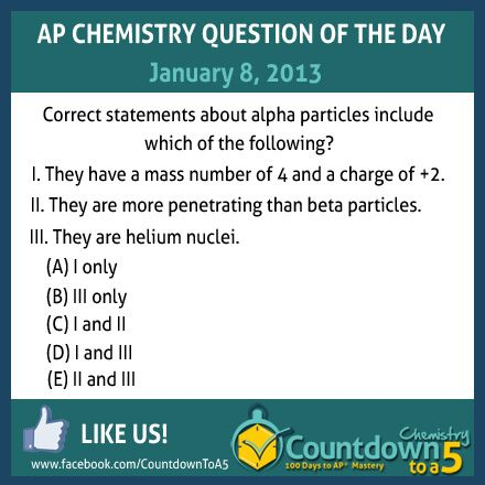 Ap chemistry question of the day is about alpha particles find out ap chemistry question of the day is about alpha particles find out how to get a 5 on ap chem fandeluxe Image collections