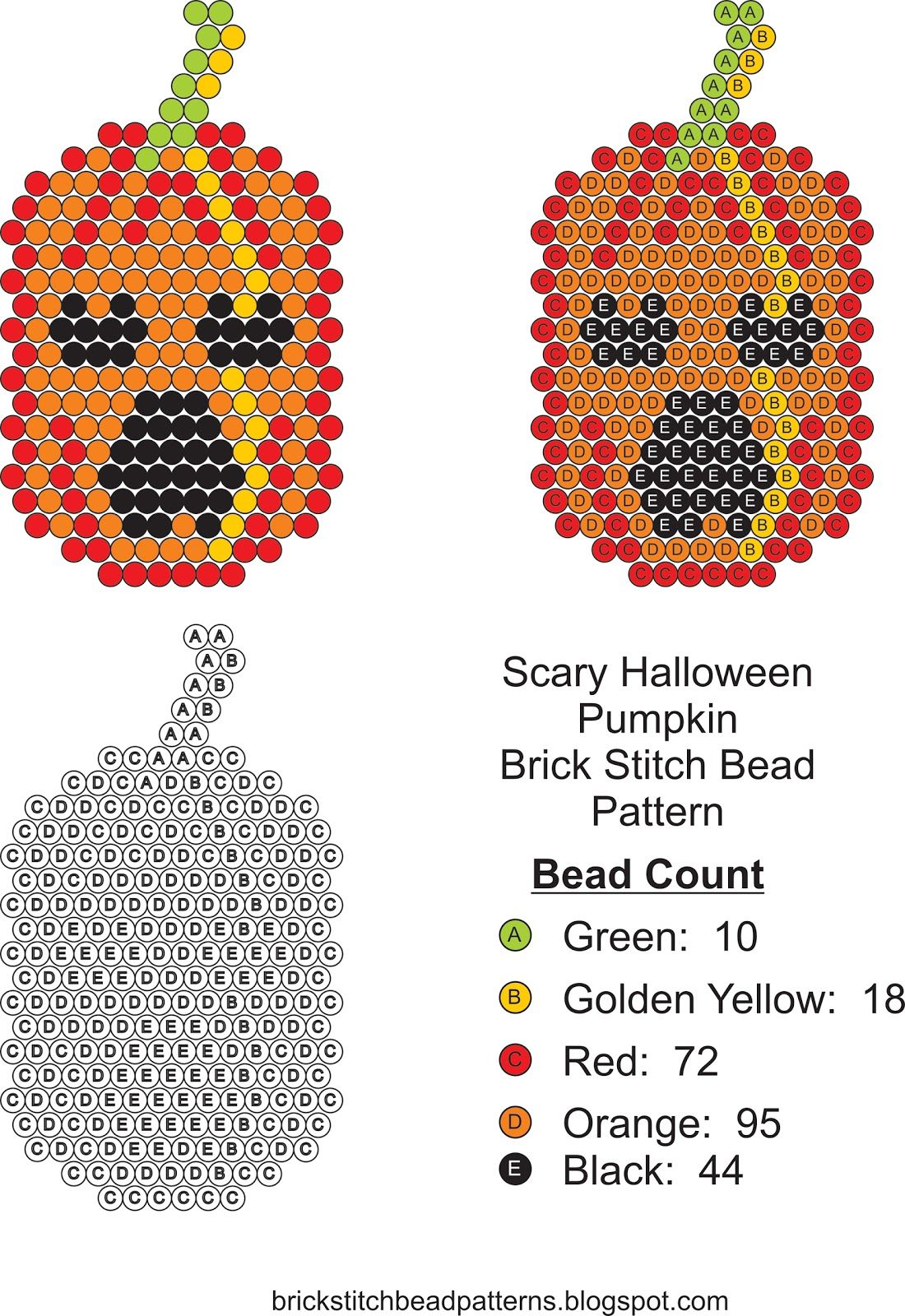 Scary Beaded Halloween Jack-O-Lantern Pumpkin #3 | djmorningstar ...