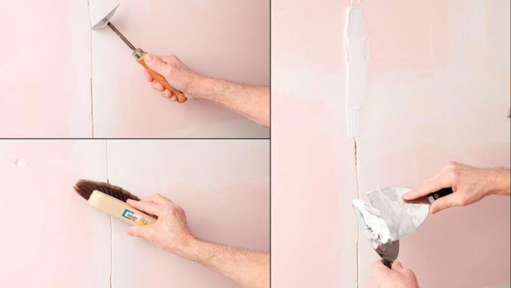 Réparer les fissures au plafond Construction - peinture pour plafond fissure