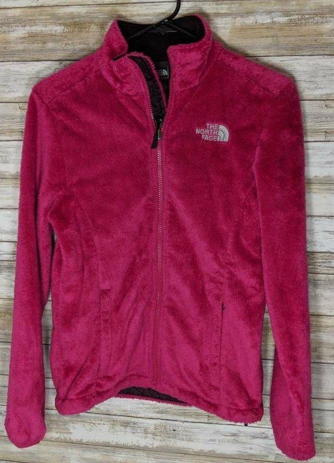 North Face Women's Hot Pink Fleece Jacket Size XS