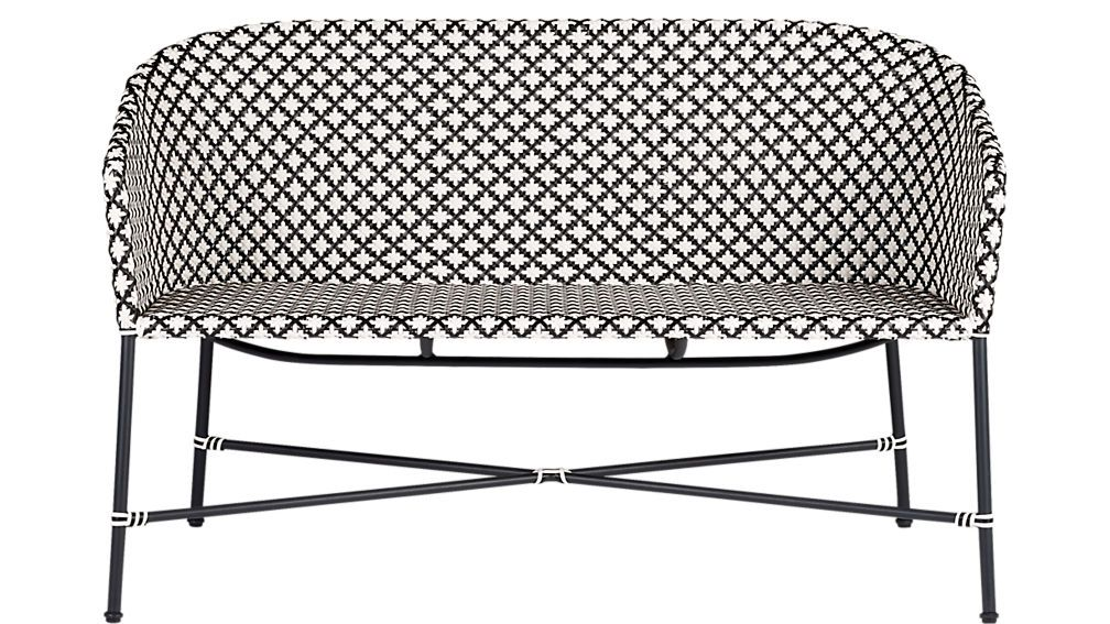 Brilliant Brava Black And White Wicker Loveseat Reviews Outdoor In Ocoug Best Dining Table And Chair Ideas Images Ocougorg