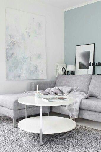 Azules y grises Mooie kleur wand   Woonkamer   Pinterest - Kleur ...