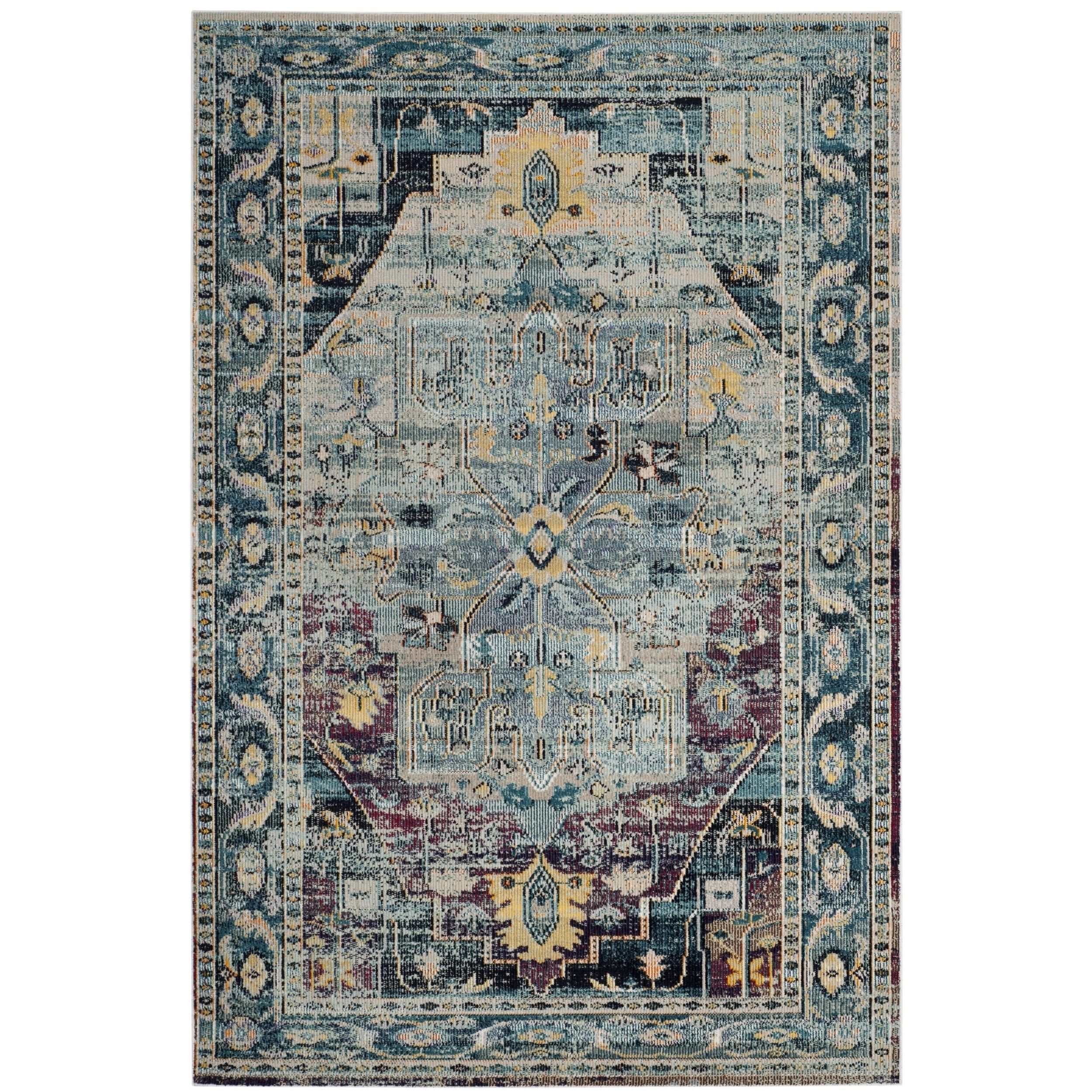 Safavieh Crystal Teal Purple Area Rug 8 X 10 Crs503d 8 Blue