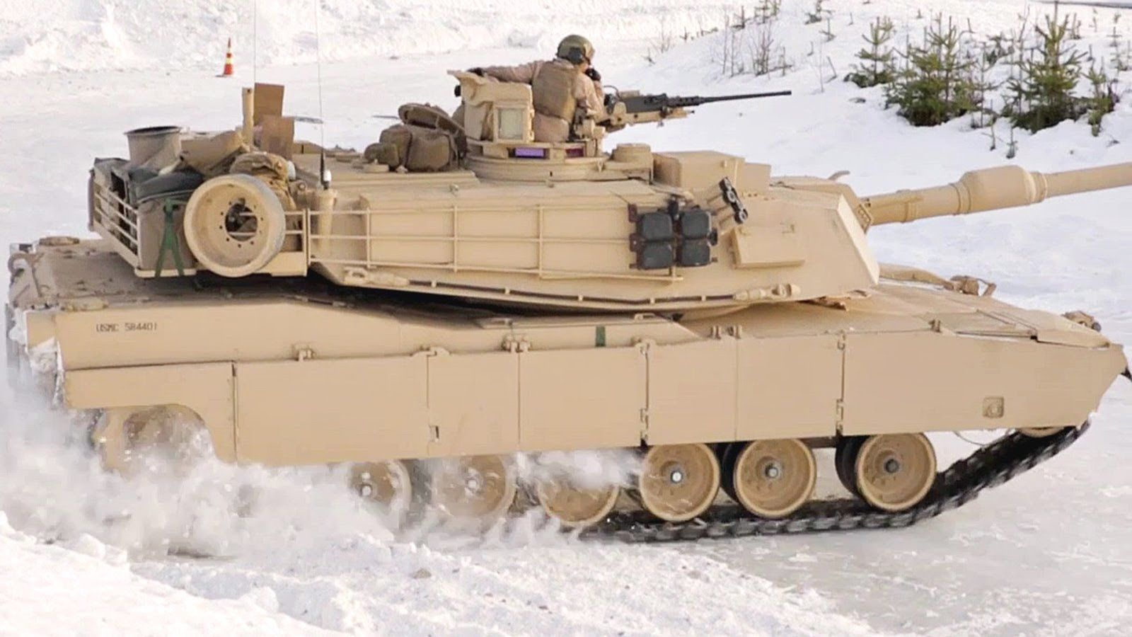 US Military Abrams Tanks DRIFTING on ICE & SNOW in Norway