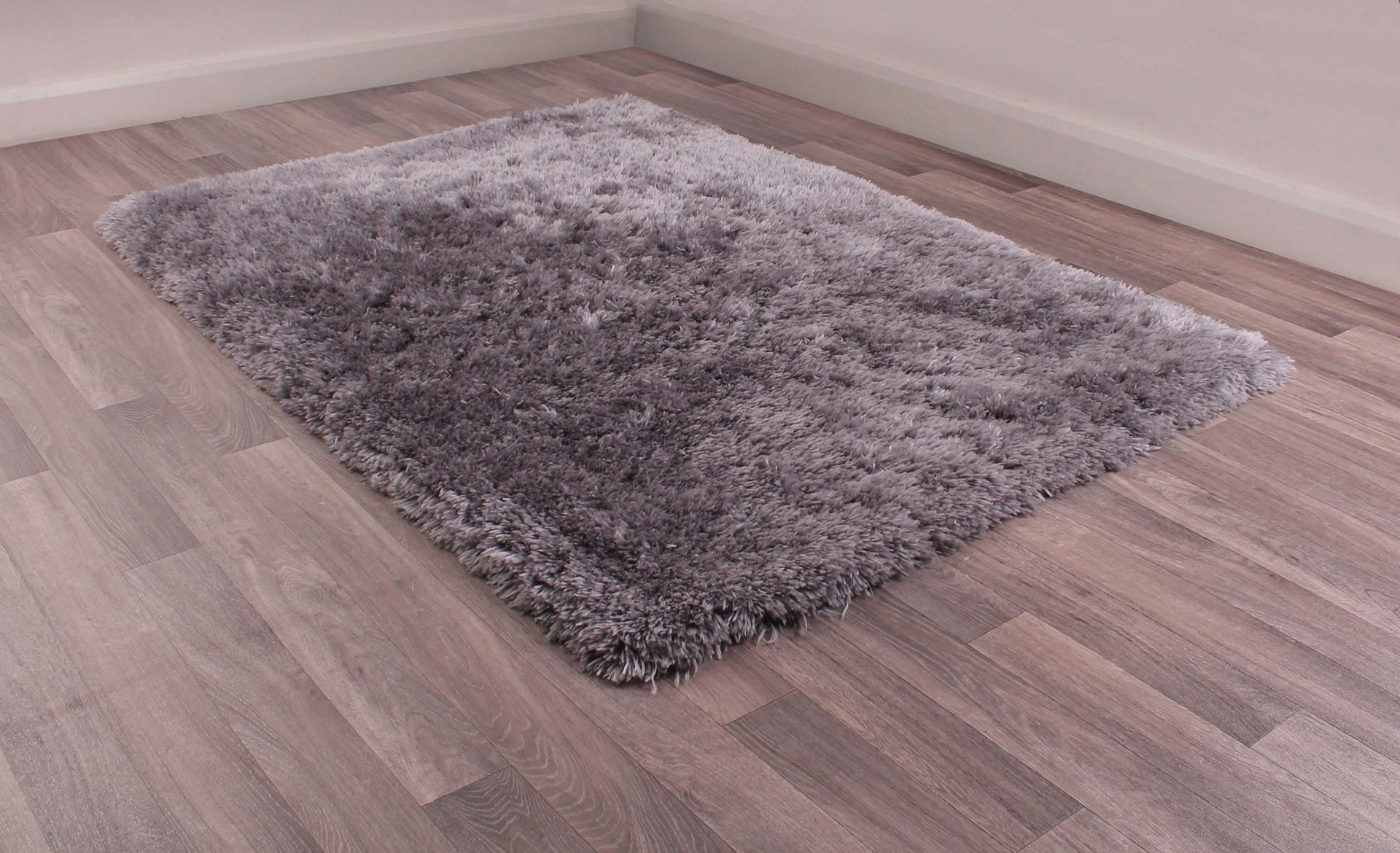 Flossy Supersoft Silver Rug