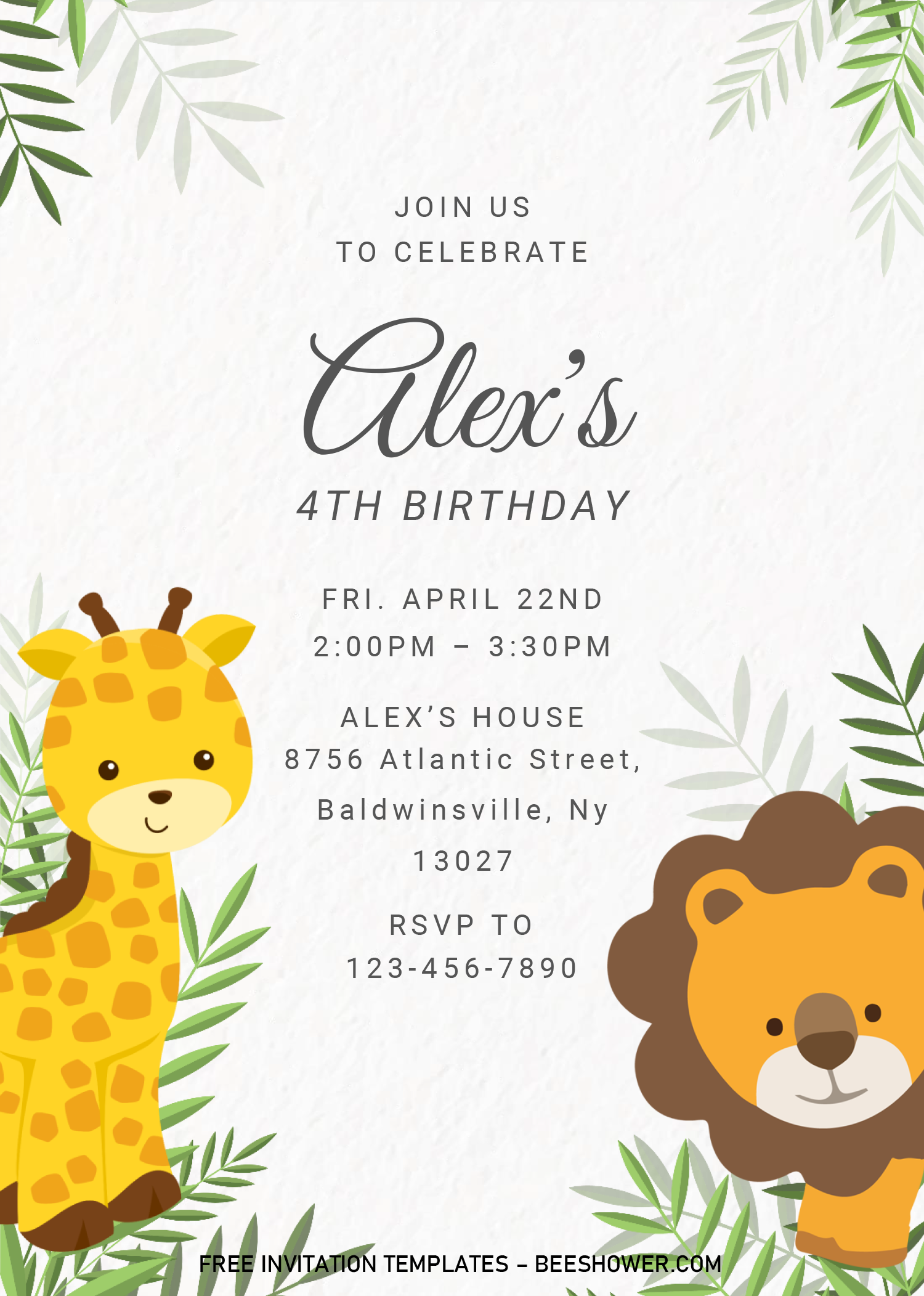 Safari Baby Shower Invitation Templates Editable With Ms W In 2020 Safari Baby Shower Invitations Free Printable Baby Shower Invitations Baby Shower Invitation Cards