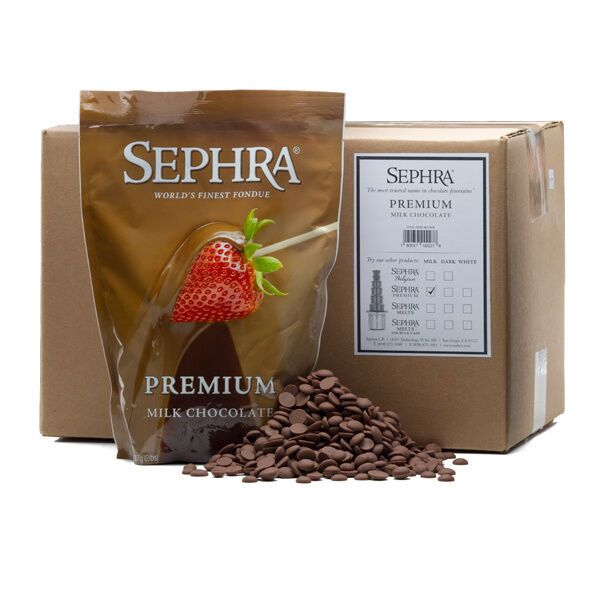 Details about 20 LBS SEPHRA PREMIUM MILK CHOCOLATE FOUNTAIN READY 20LB CASE (10 X 2 LB BAGS) #chocolatefountainfoods