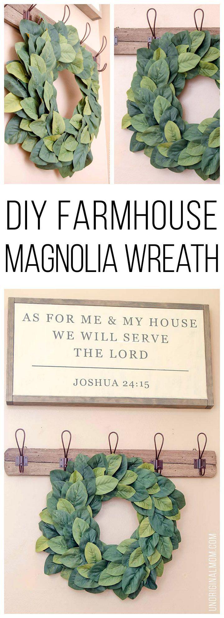 Photo of Finding DIY Home Decor Inspiration: DIY Farmhouse Magnolia Wreath – unOriginal …