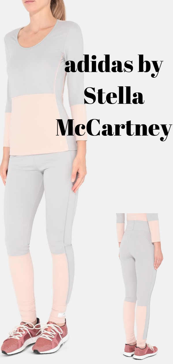 d9197b2821a51 Pink Yoga Comfort Tights adidas by Stella McCartney Made with parley yarn  and softly peached fabric