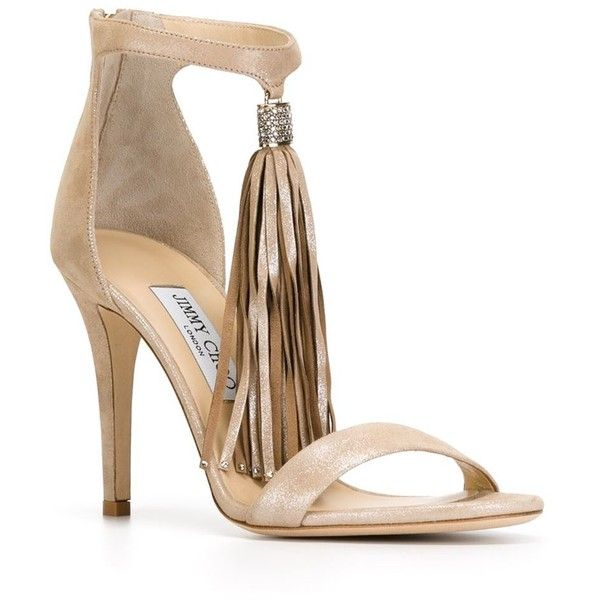Jimmy Choo 'Viola' sandals (57,070 MKD) ❤ liked on Polyvore featuring shoes, sandals, jimmy choo sandals, stilettos shoes, heels stilettos, metallic leather sandals and open toe stilettos