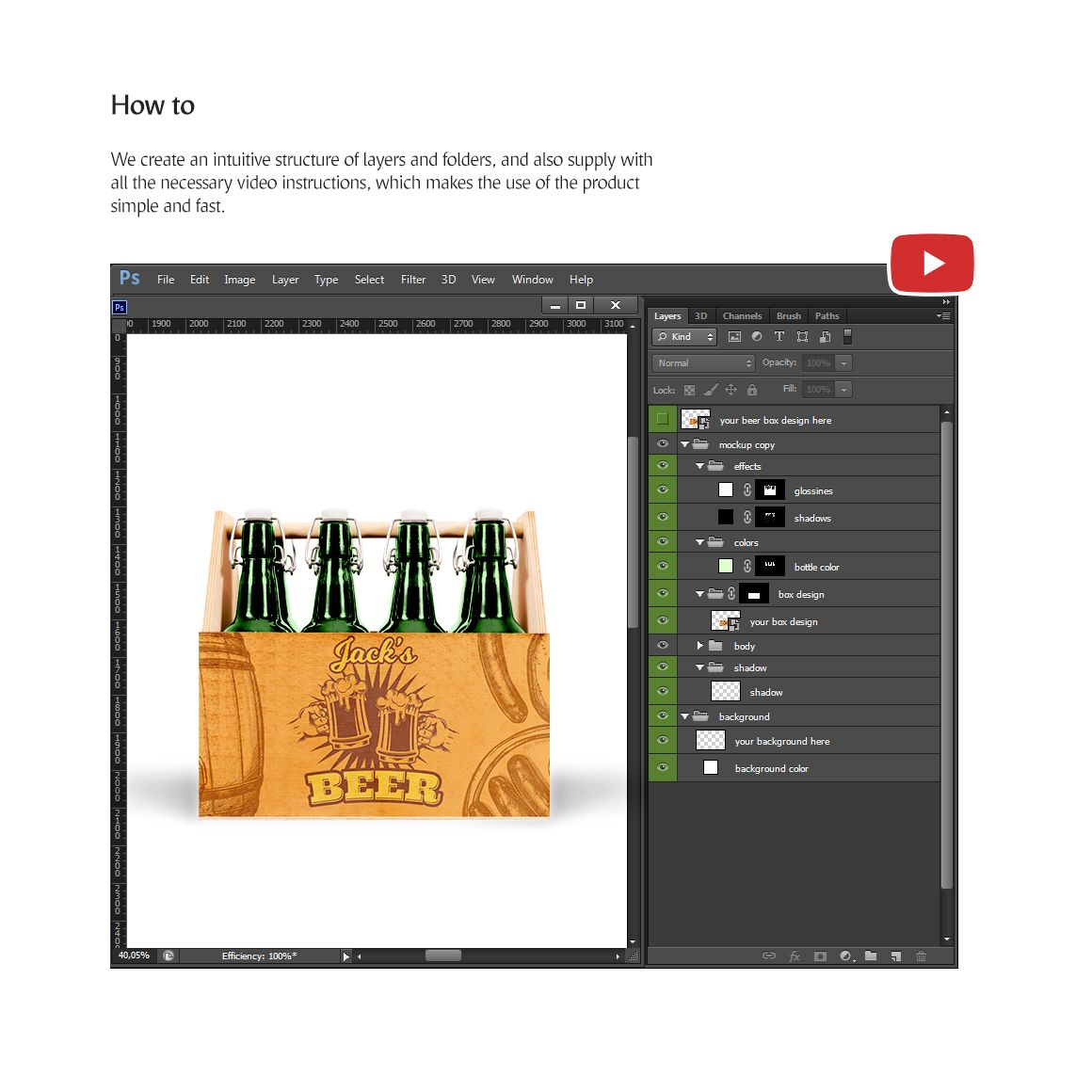 Download Craft Beer Box Product Mockup #78502 | Beer box