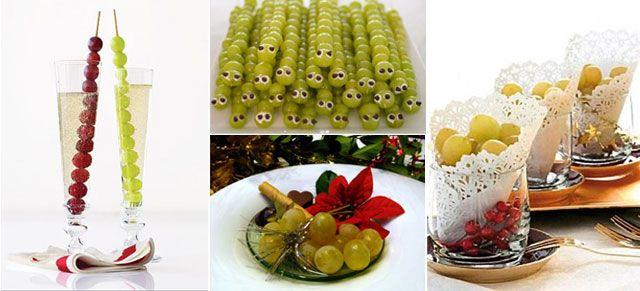 Ideas creativas para presentar las doce uvas nochevieja - Postres faciles para nochevieja ...