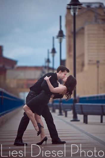 Dip Kiss Dancing Romantic Engagement Session Portrait -2652