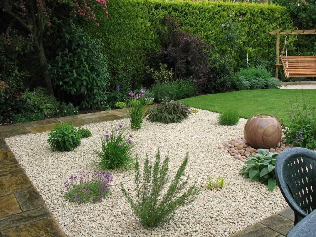 Concepts Decor Designs Gravel Ideas Implausible Incredible Landsc Landscaping Pea Side In 2020 Mediterranean Garden Design Gravel Landscaping Garden Design