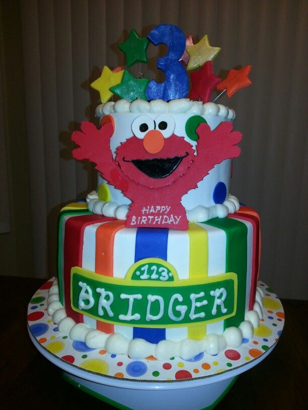 Sweet As Cakery Facebook Sweetascakery 2 Tier Elmo Birthday Cake