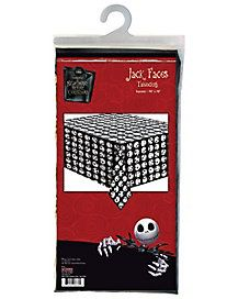 Jack Skellington Faces Tablecloth The Nightmare Before Christmas