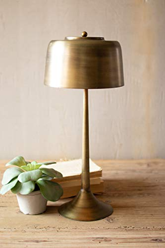 Kalalou Nde1372 Tall Antique Brass Table Lamp With Brass Shade Walmart Com Brass Table Lamps Farmhouse Light Fixtures Antique Floor Lamps