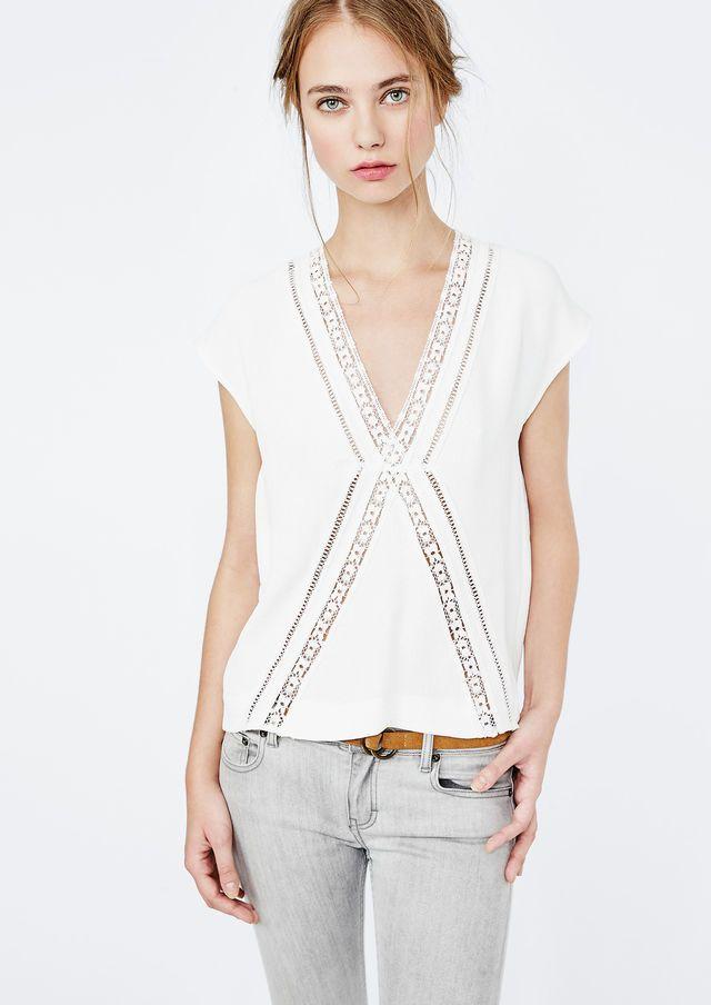 chemise marguerite maje