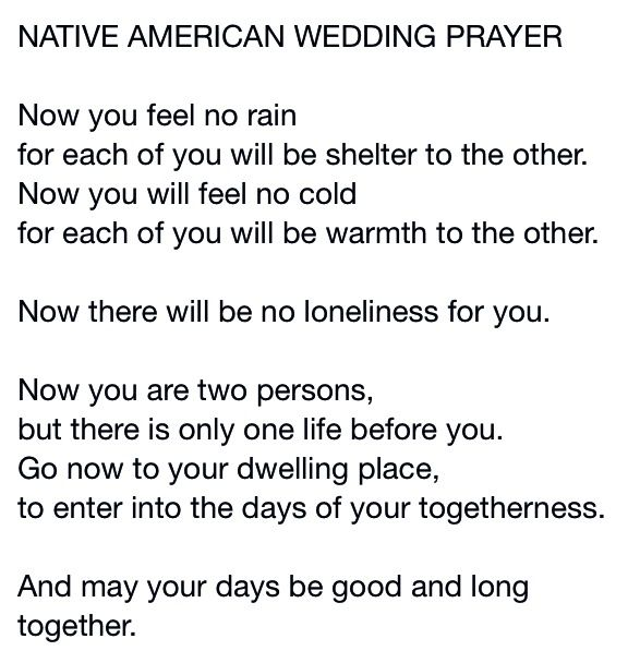 Native American Wedding Poem