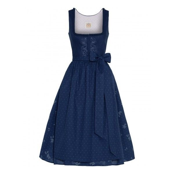 Lodenfrey Wiesndirndl kurz mit Schürze Lodenfrey (525 CAD) ❤ liked on Polyvore featuring dresses and blue dress