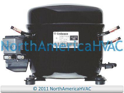 Refrigeration Compressor 1 4 Hp R 134a 115v Fits Whirlpool Egy90hlp Tecumseh Heating Systems Compressor