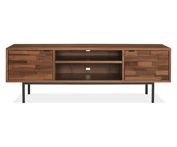 Room Board Innes 24h 72w Two Door Media Cabinet With Steel Base Modern Media Cabinets Modern Furniture Living Room Furniture