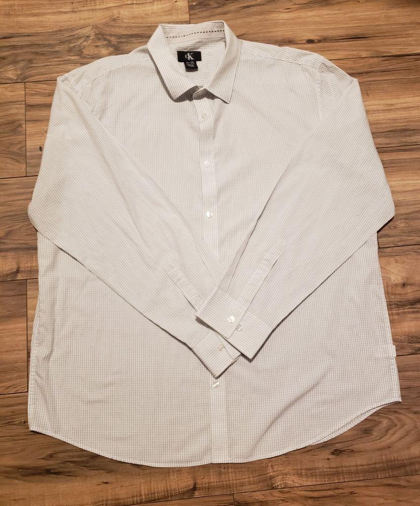 b71f0af29b8 Calvin Klein Man Dressy Shirt Size XLarge  fashion  clothing  shoes   accessories
