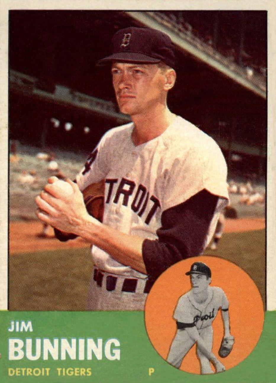 1963 topps jim bunning baseball cards baseball card