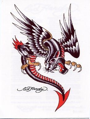 Temporary Tattoos And Fake Tattoos Ed Hardy Panther Dragon Ed Hardy Tattoos Ed Hardy Designs Old School Tattoo Designs
