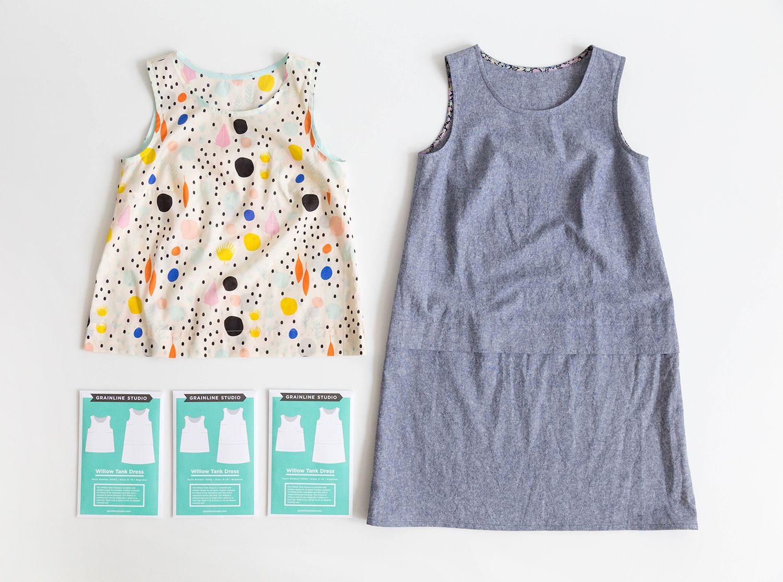 Willow Tank Dress | Grainline Studio | Clothing Patterns | Pinterest