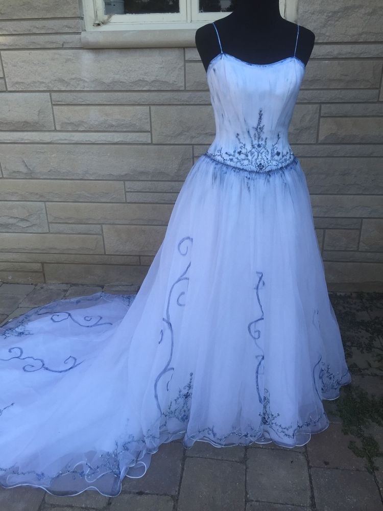 The Corpse Bride Emily Wedding Dress Gown Costume 8