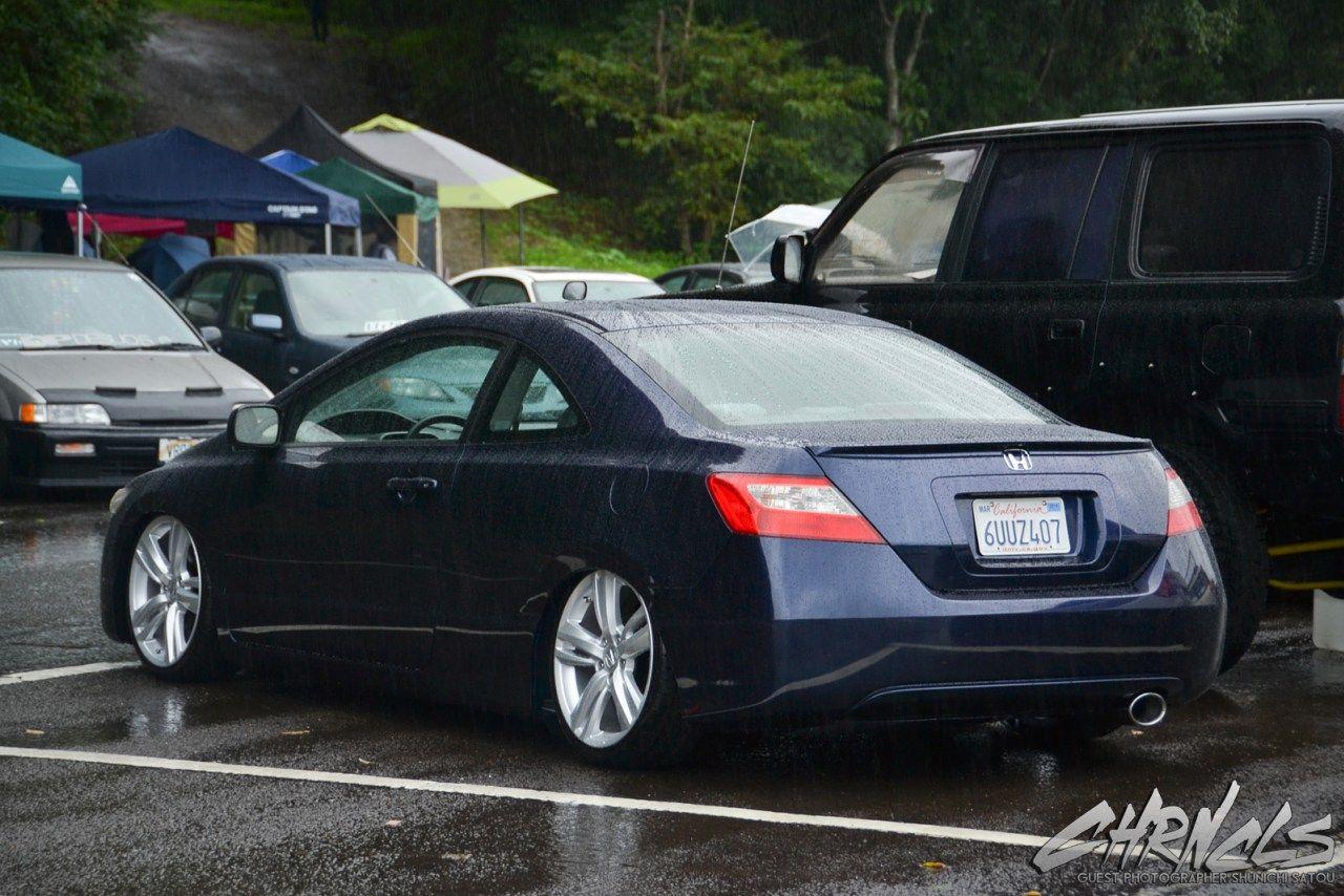 Slammed Usdm Fg2 Civic Coupe On Oem Acura Wheels 2007 Honda Civic Si Civic Coupe 2007 Honda Civic