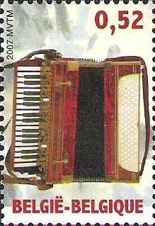 Bélgica. Tema: Instrumentos musicales ... Acordeón. Año: 2007.